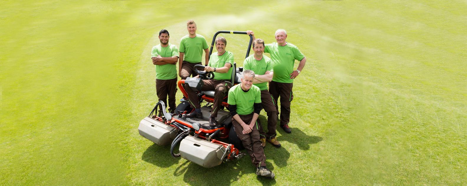 Greenkeeping Mannschaft Heinz Briem
